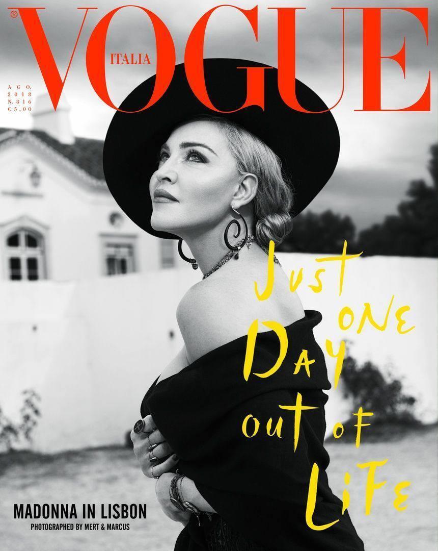 Мадонна сфотографировалась для обложки журнала в украинской шляпе.