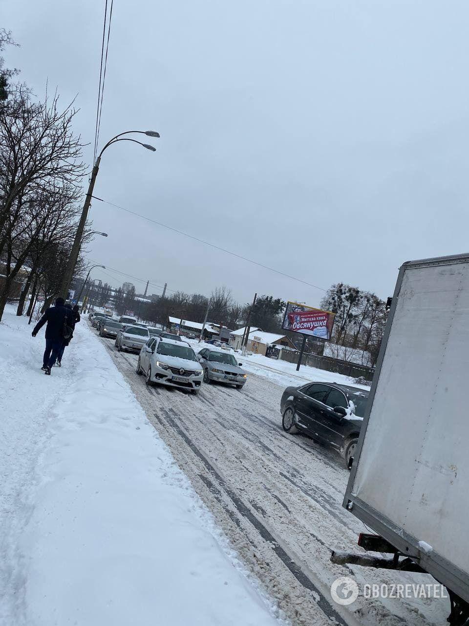 Пешеходы испытывают трудности с передвижением