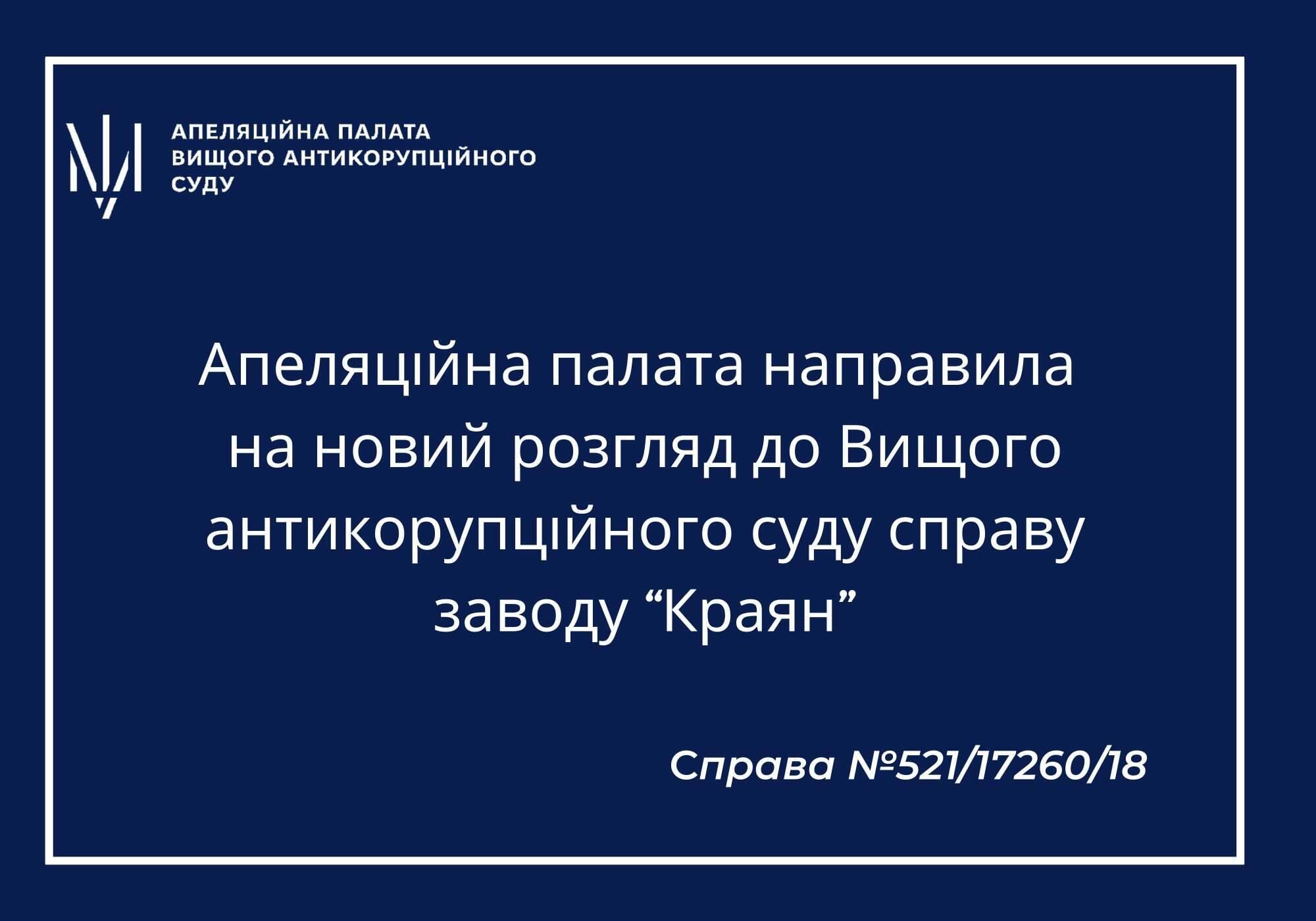 Facebook / Апелляционная палата Высшего антикоррупционного суда
