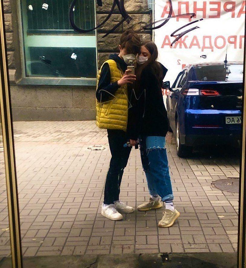 Маша Полякова и ее парень Андрей