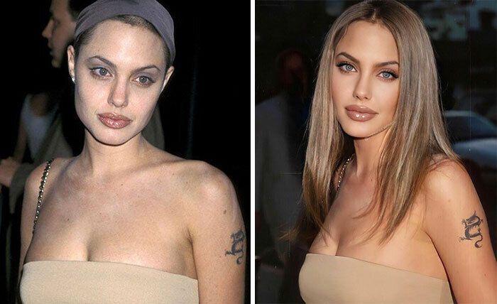 Анджеліна Джолі додала волосся та трохи засмаги у фотошопі