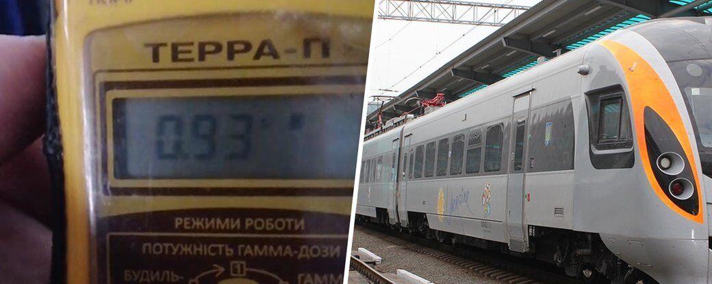 В поезде УЗ зафиксировали превышение радиационного фона