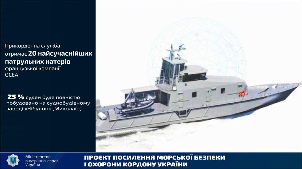 Украина сотрудничает с Францией для получения новых катеров для пограничников.