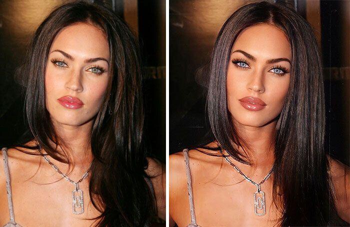 Меган Фокс змінила колір очей і додала засмаги на фото