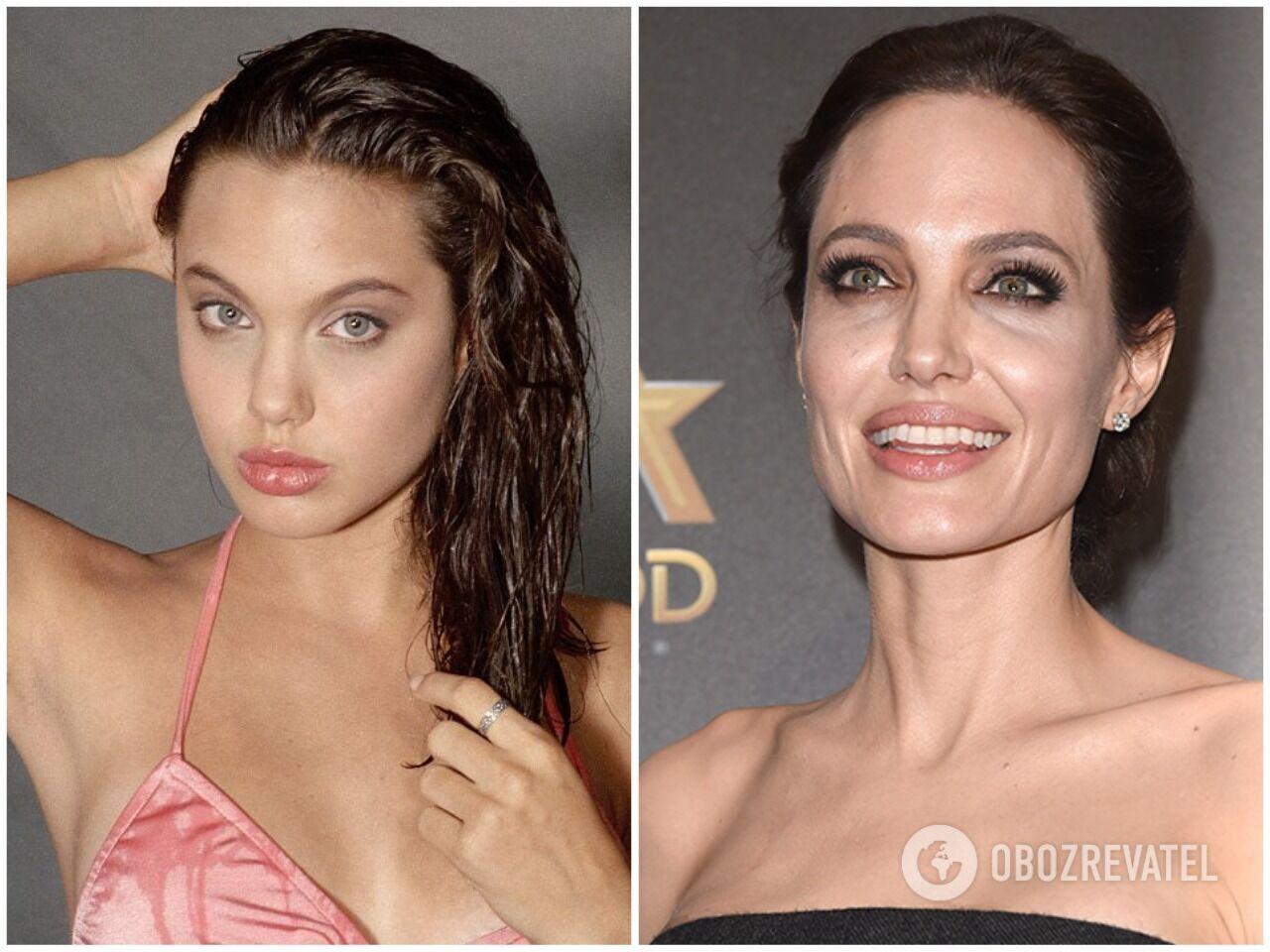 Анджеліна Джолі в молодості та зараз