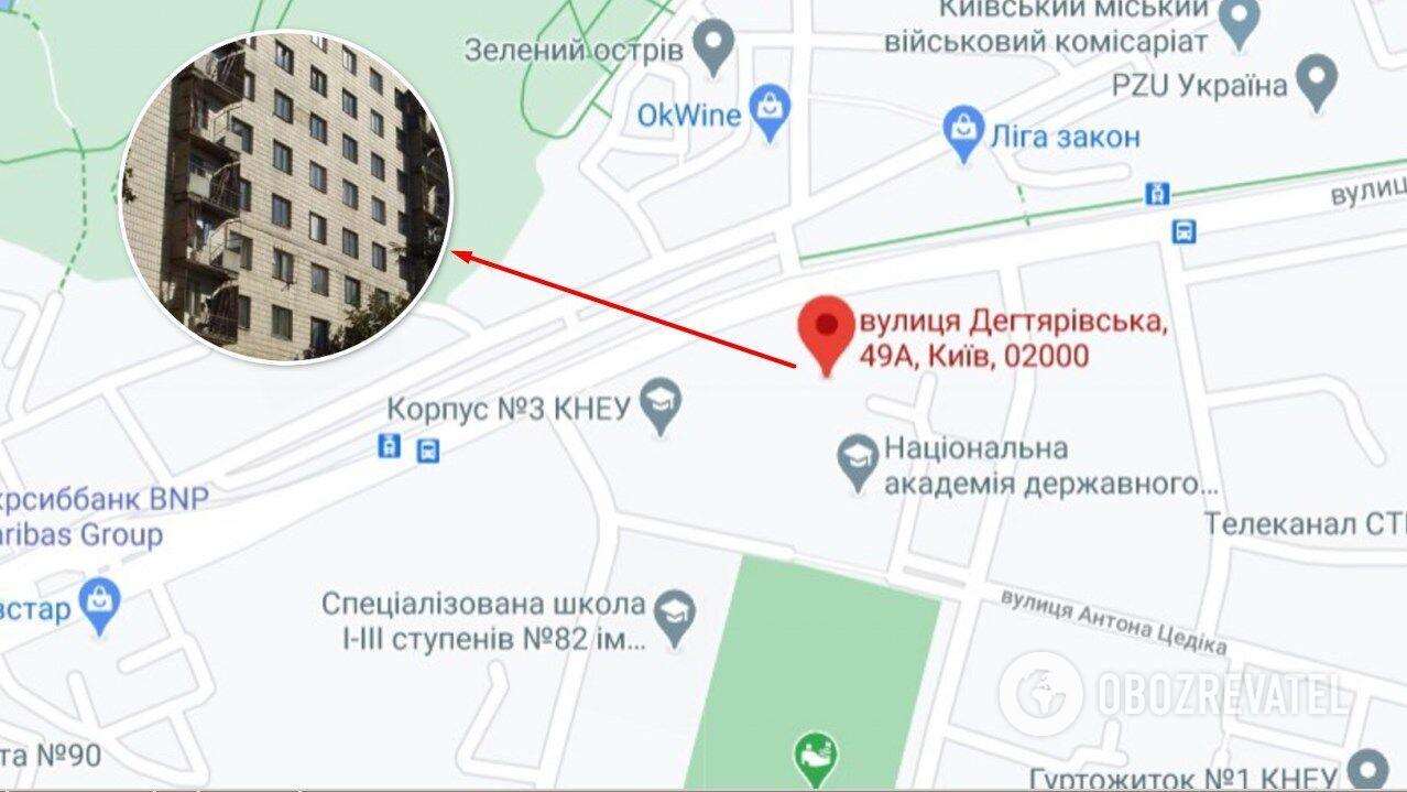 Напад стався в гуртожитку на вул. Дегтярівській у Києві