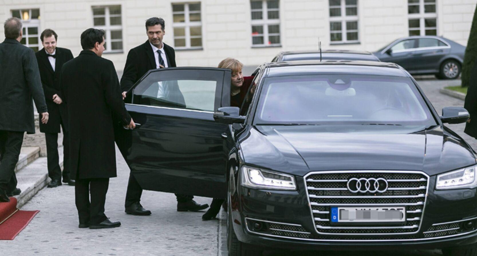 Audi A8 L Ангели Меркель