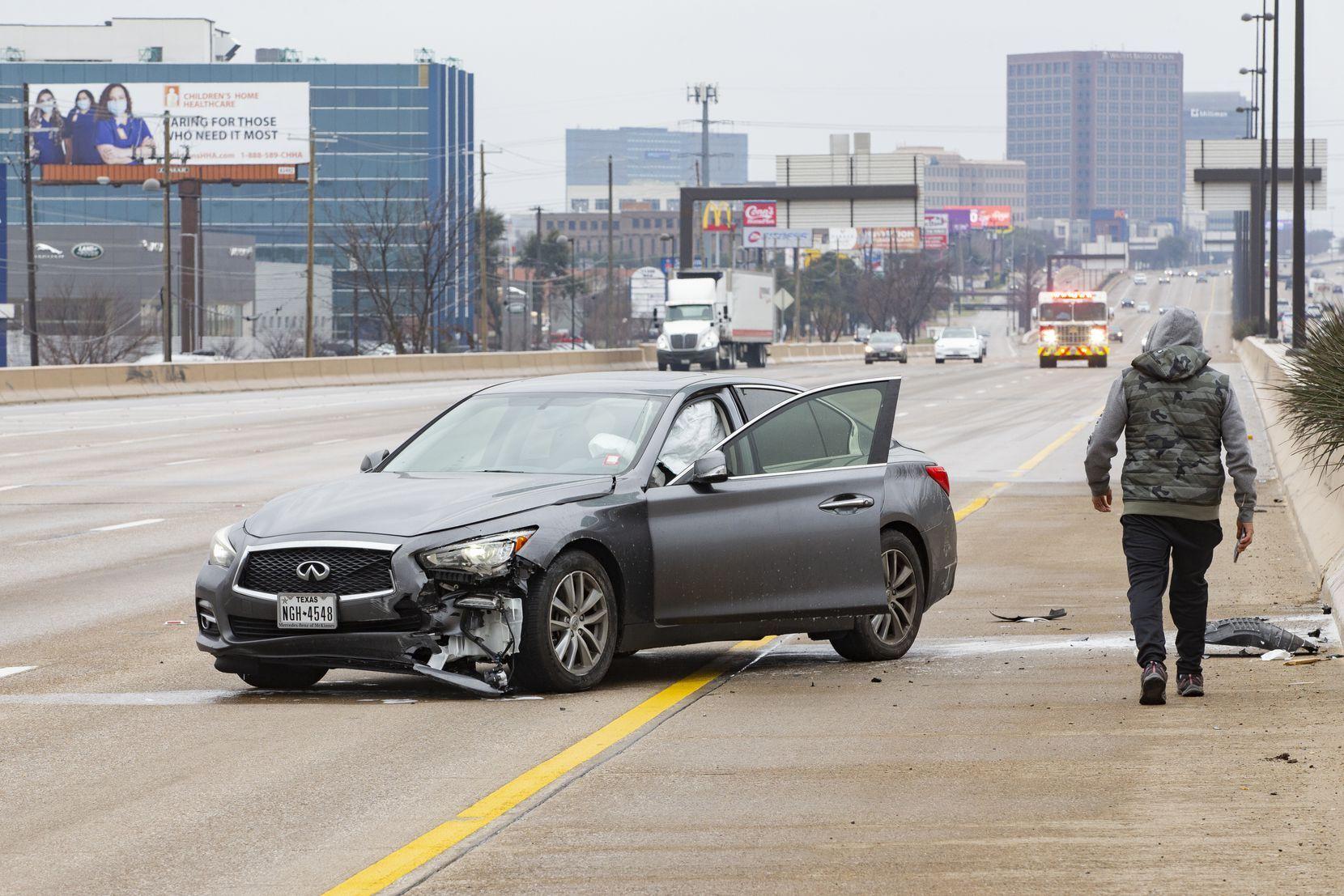 Одна из пострадавших машин