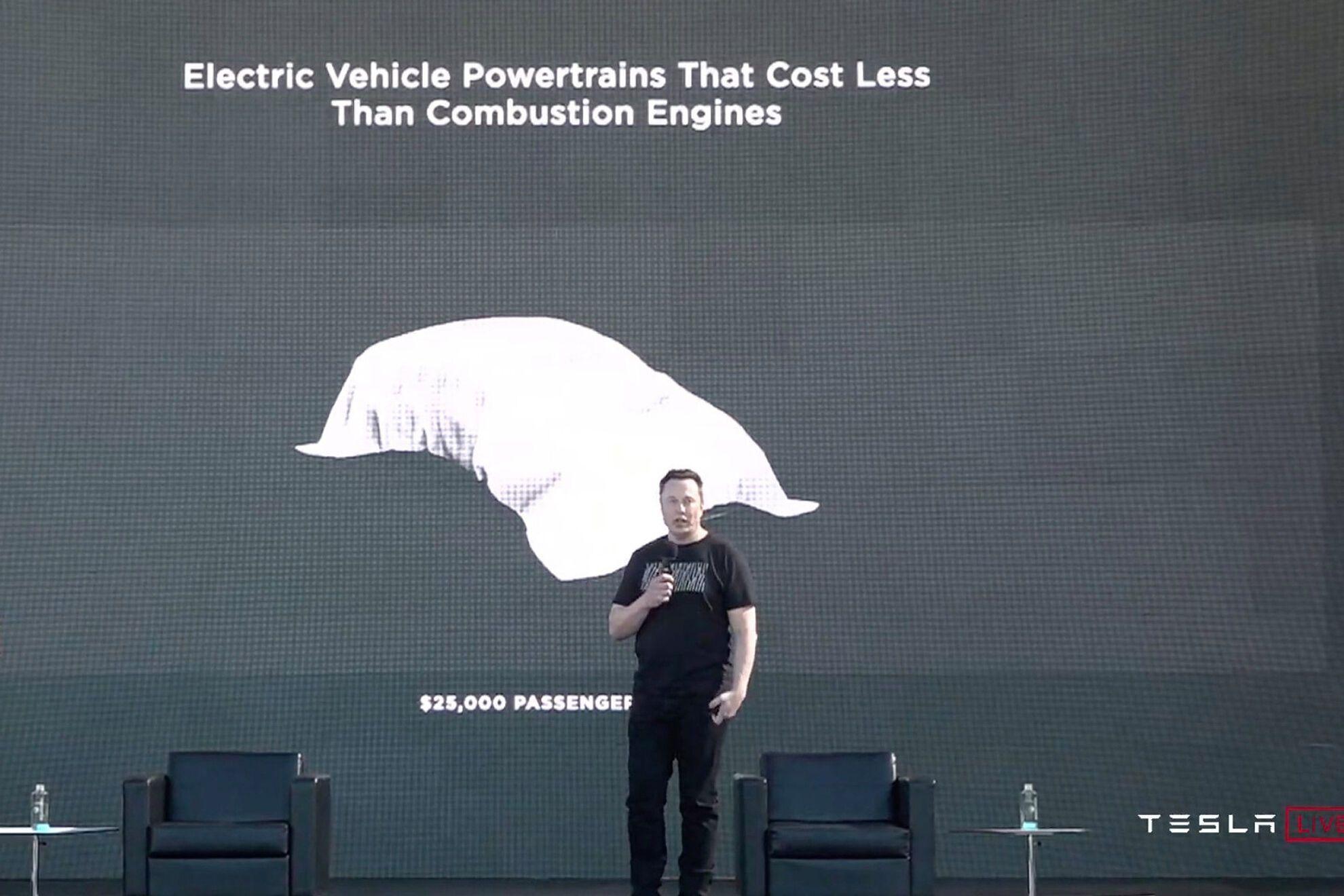 Вперше керівник компанії Ілон Маск розповів про електромобіль за $ 25000 ще в вересні 2020 року