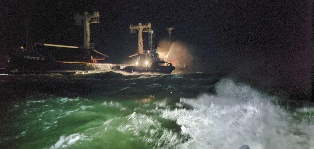 Возгорание произошло в Черном море