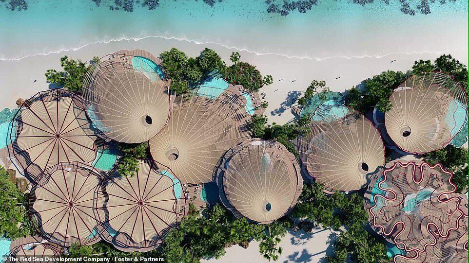 Пляж на курорті в Саудівській Аравії