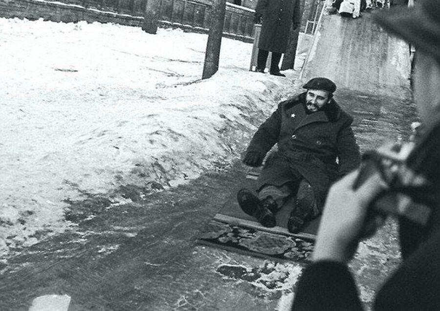 Фидель Кастро в 1964 году в Москве