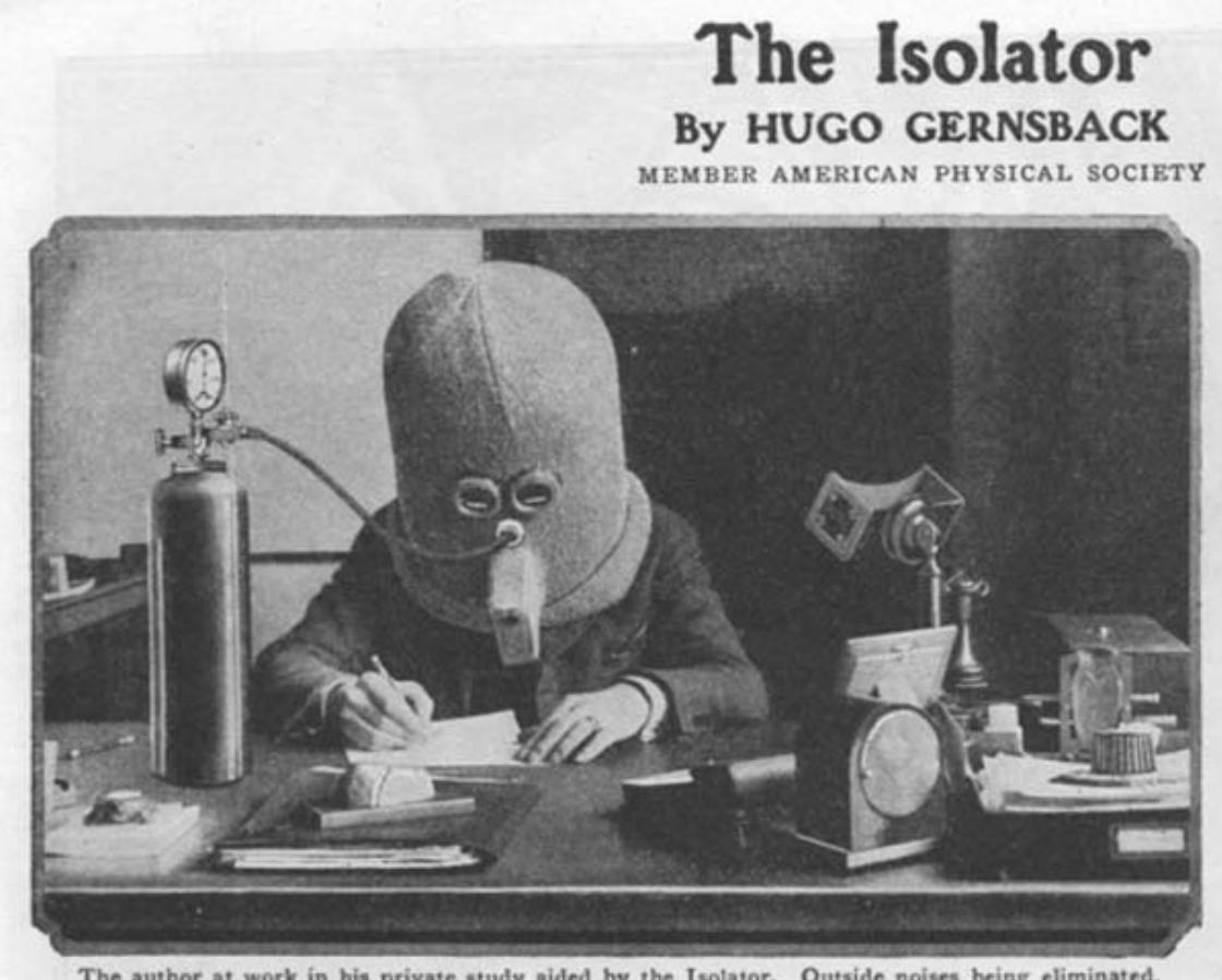 Шолом-ізолятор, який захищав людину від спілкування з людьми