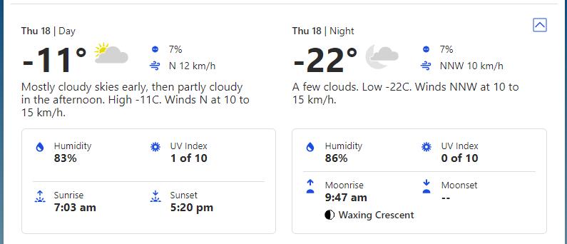 Прогноз погоди на четвер, 18 лютого