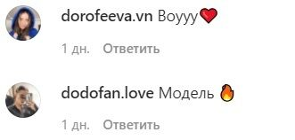 Коментарі фанатів Дорофеєвої в Instagram.