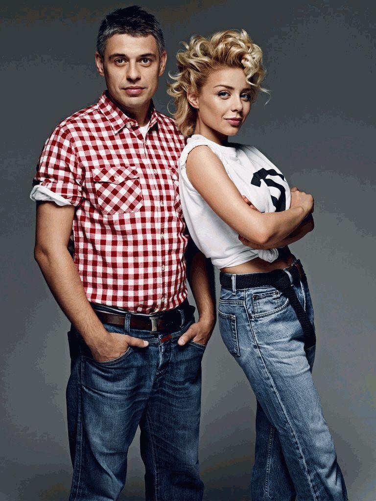 Тина Кароль с мужем .