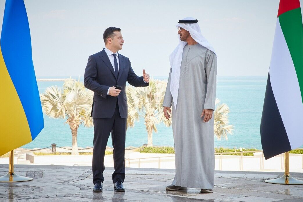 Зеленский встретился с наследным принцем Абу-Даби