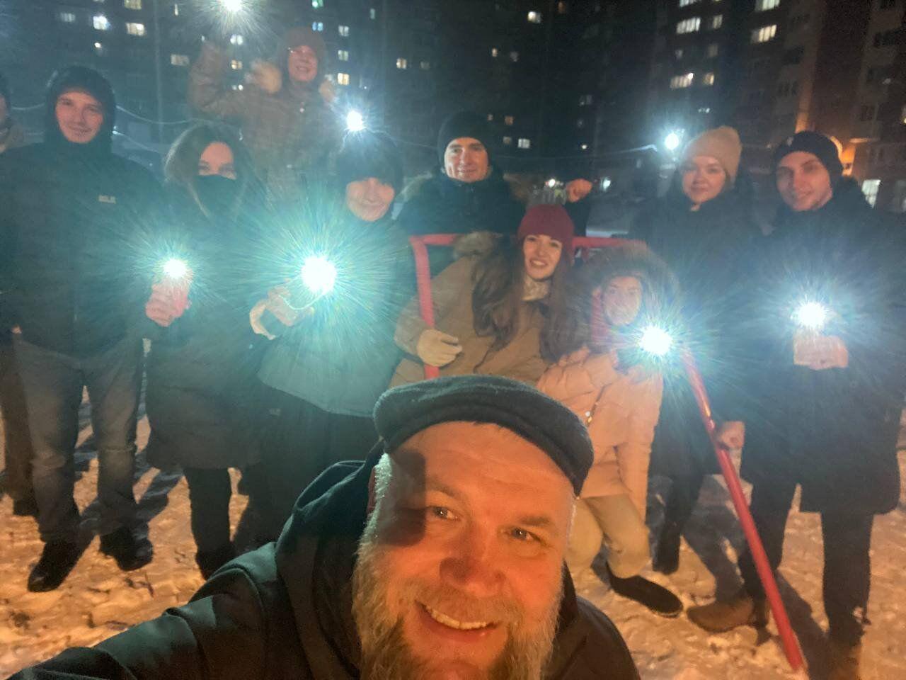 Акция с фонариками в Иркутске
