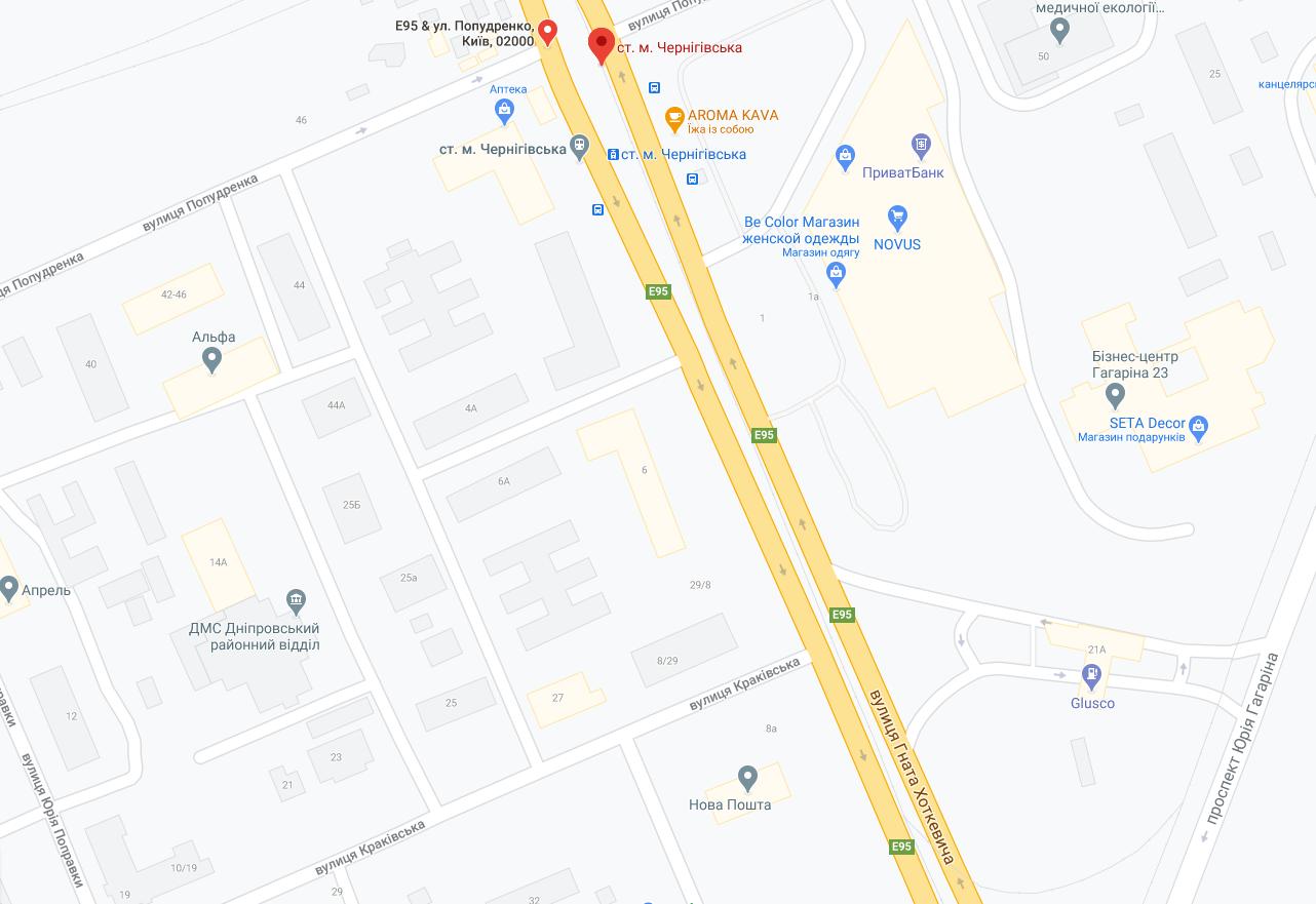 """Станция метро """"Черниговская"""""""