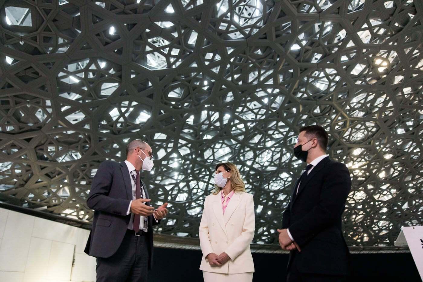 Владимир Зеленский и Елена Зеленская посетили ОАЭ
