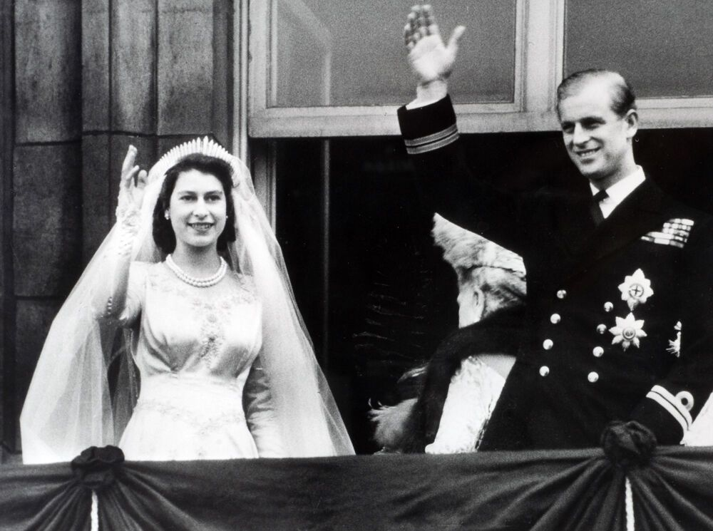 Свадьба принца Филиппа и Королевы Елизаветы II