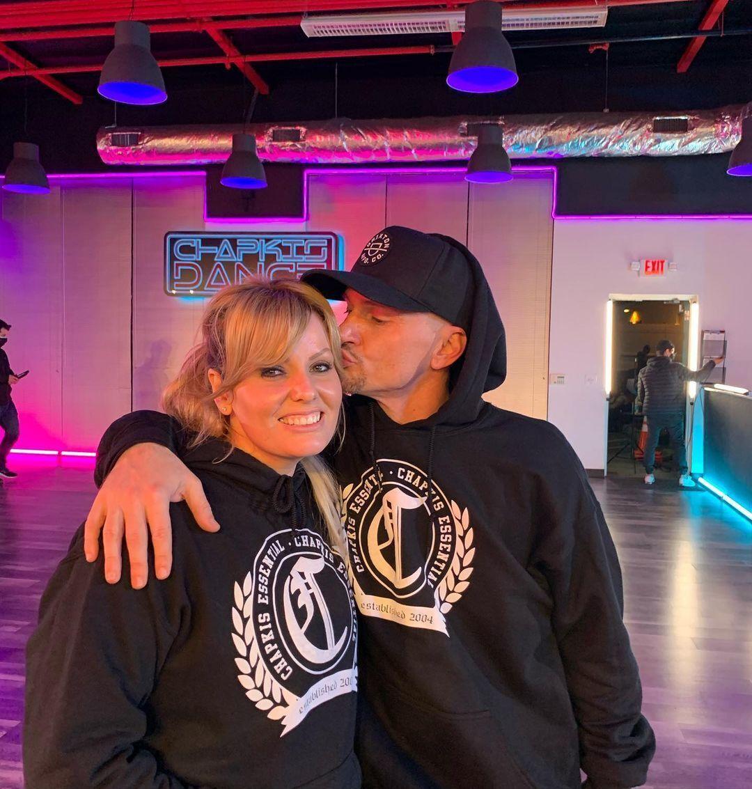 Чапкис с женой Эмбер
