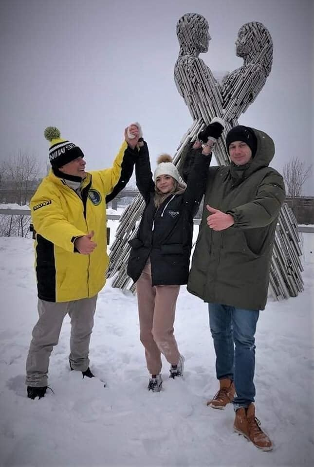 В Киеве влюбленные сковали себя одной цепью 14 февраля.