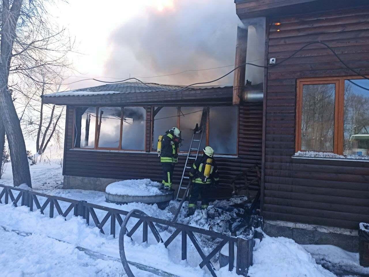 В результате пожара никто не пострадал.