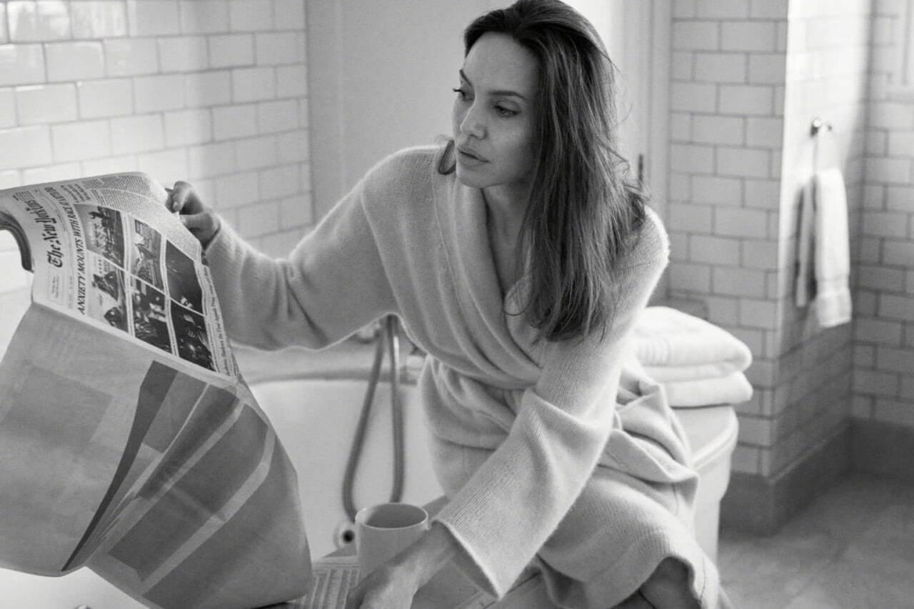 Зйомка Анджеліни Джолі для Vogue