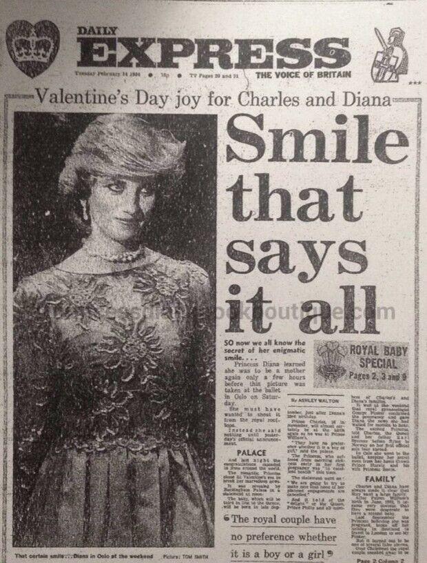 Газета Daily Express вышла с заглавной историей и снимком принцессы Дианы