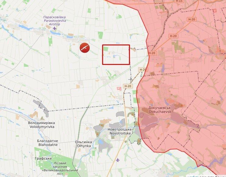 Обстрел в районе Славного.