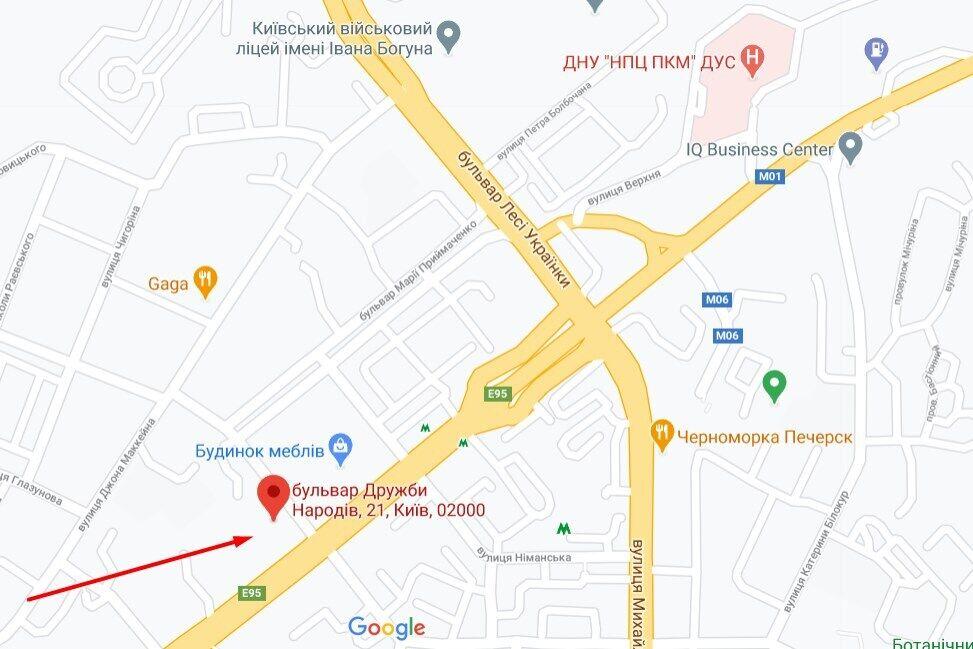 Нападение произошло в Печерском районе Киева
