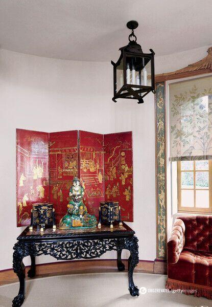 Валентино обожает китайский фарфор, картины и мебель
