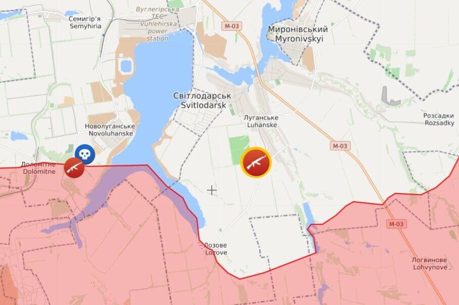Возле Светлодарска ВФ РФ обстреляли ВСУ из гранатомета и пулемета