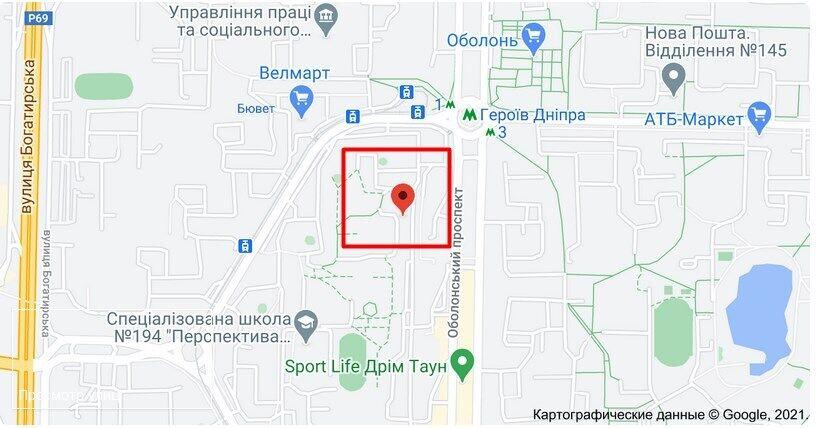 Нападение на Оболонском проспекте в Киеве