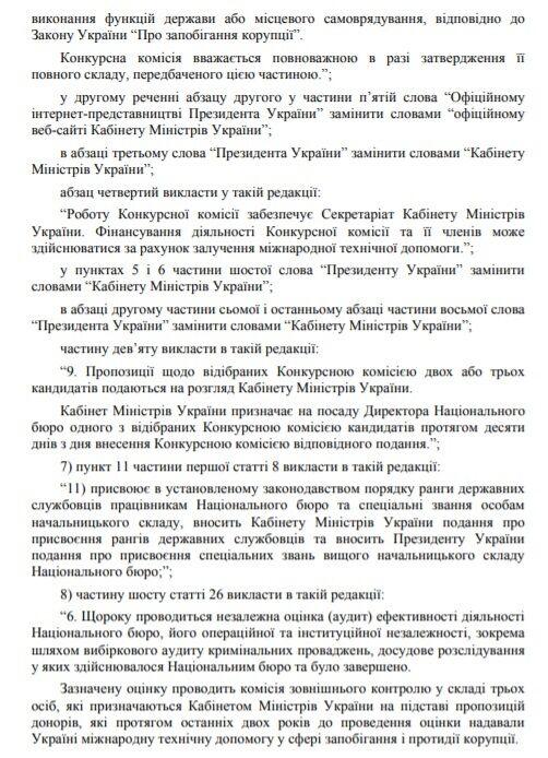 Документ подали до Верховної Ради.