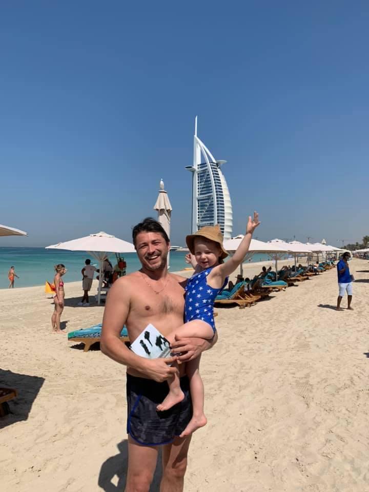 Притула с дочерью в Дубае