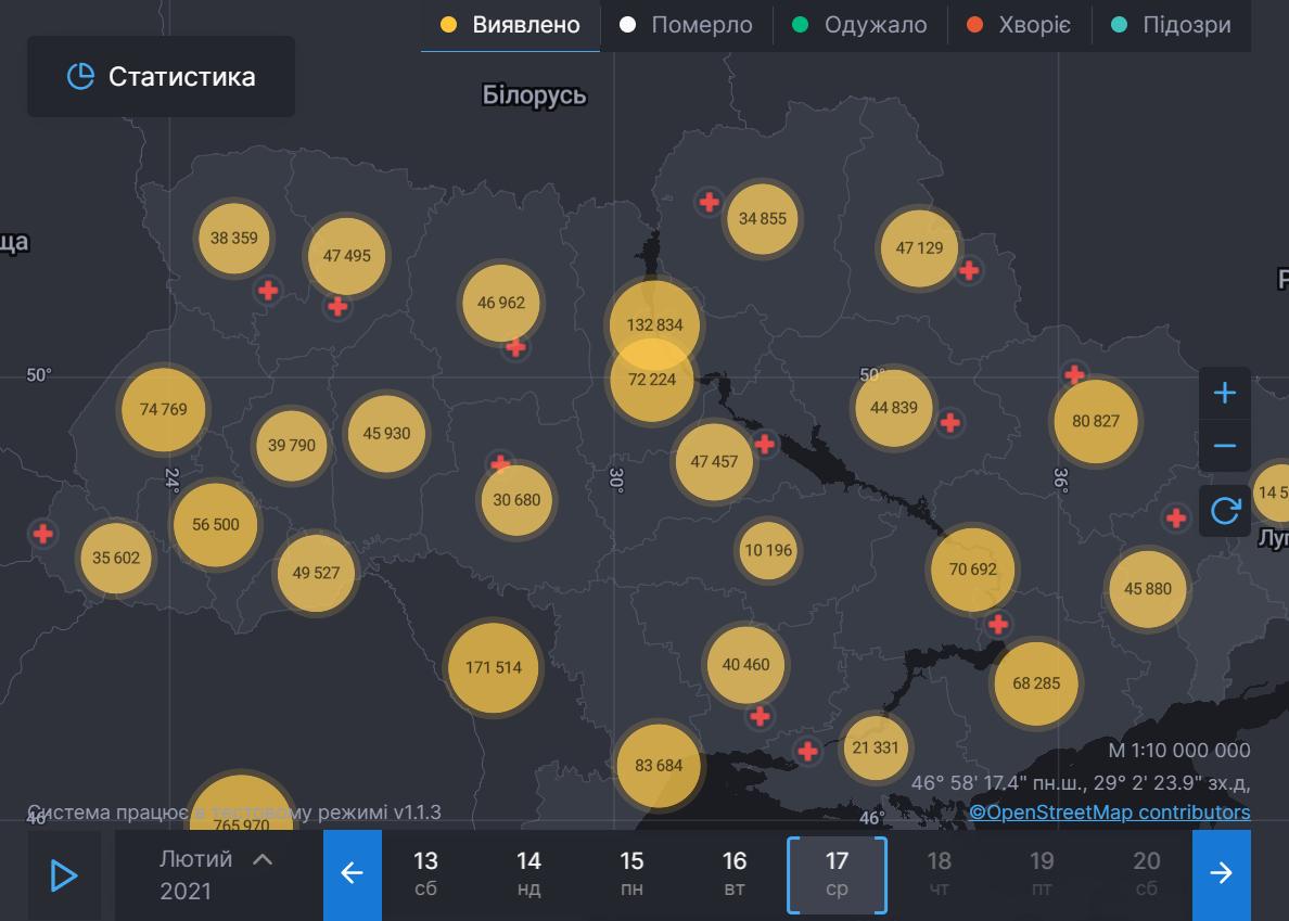 Масштаби пандемії в Україні
