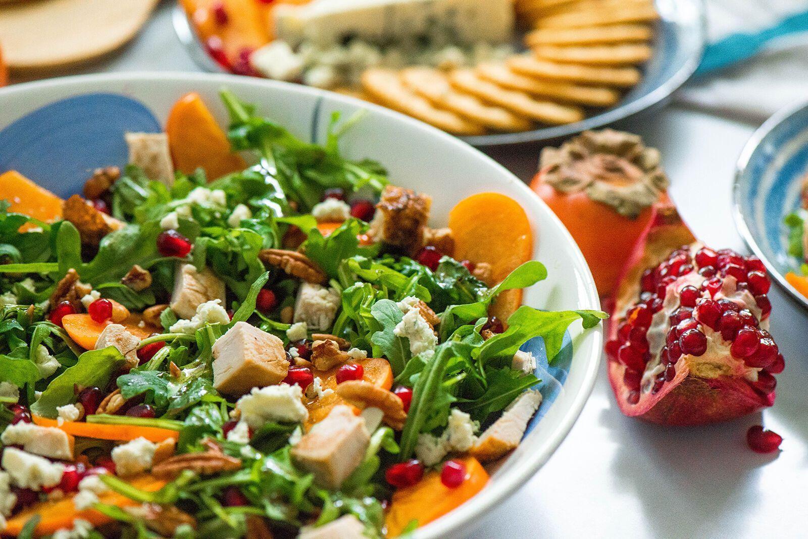 салат з індички і хурми