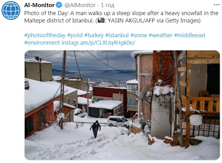 Туреччину засипав сніг