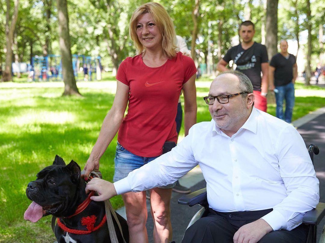 Кернес с собакой