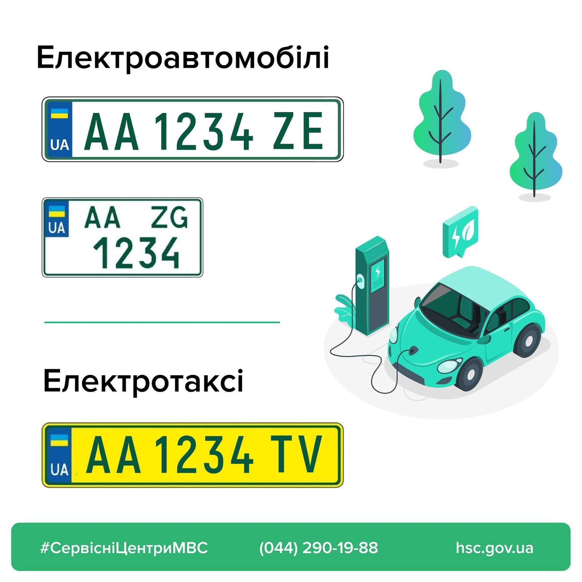 Номерной знак для электромобилей