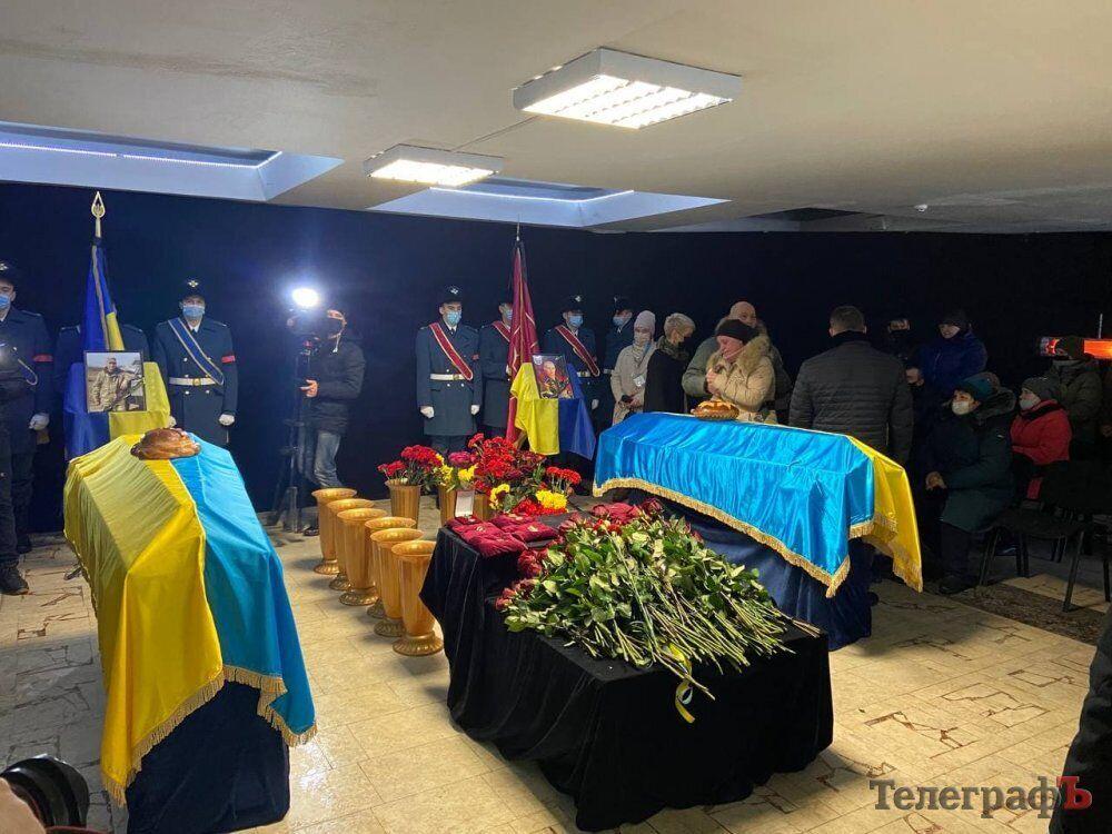 В Кременчуге попрощались с военнослужащими ВСУ