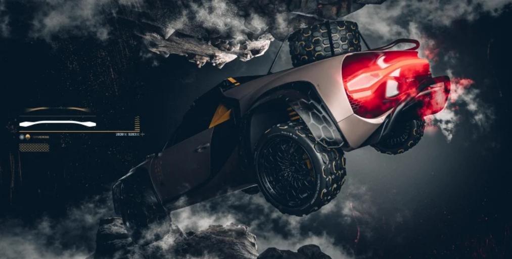 Bugatti Chiron із запасним колесом над кришкою двигуна