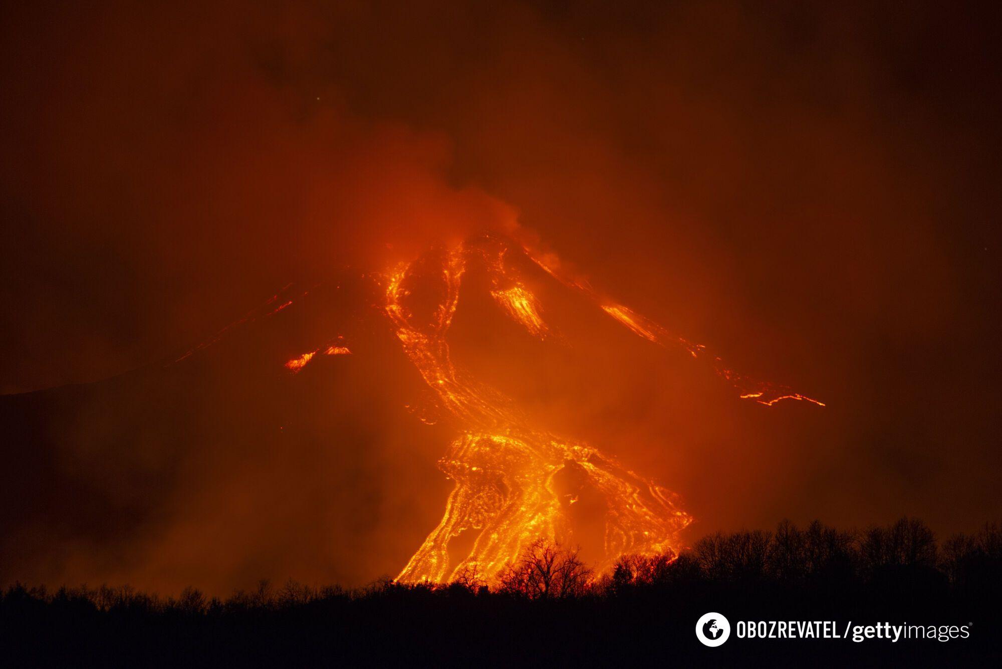 Виверження вулкана Етна 18 лютого 2021 року