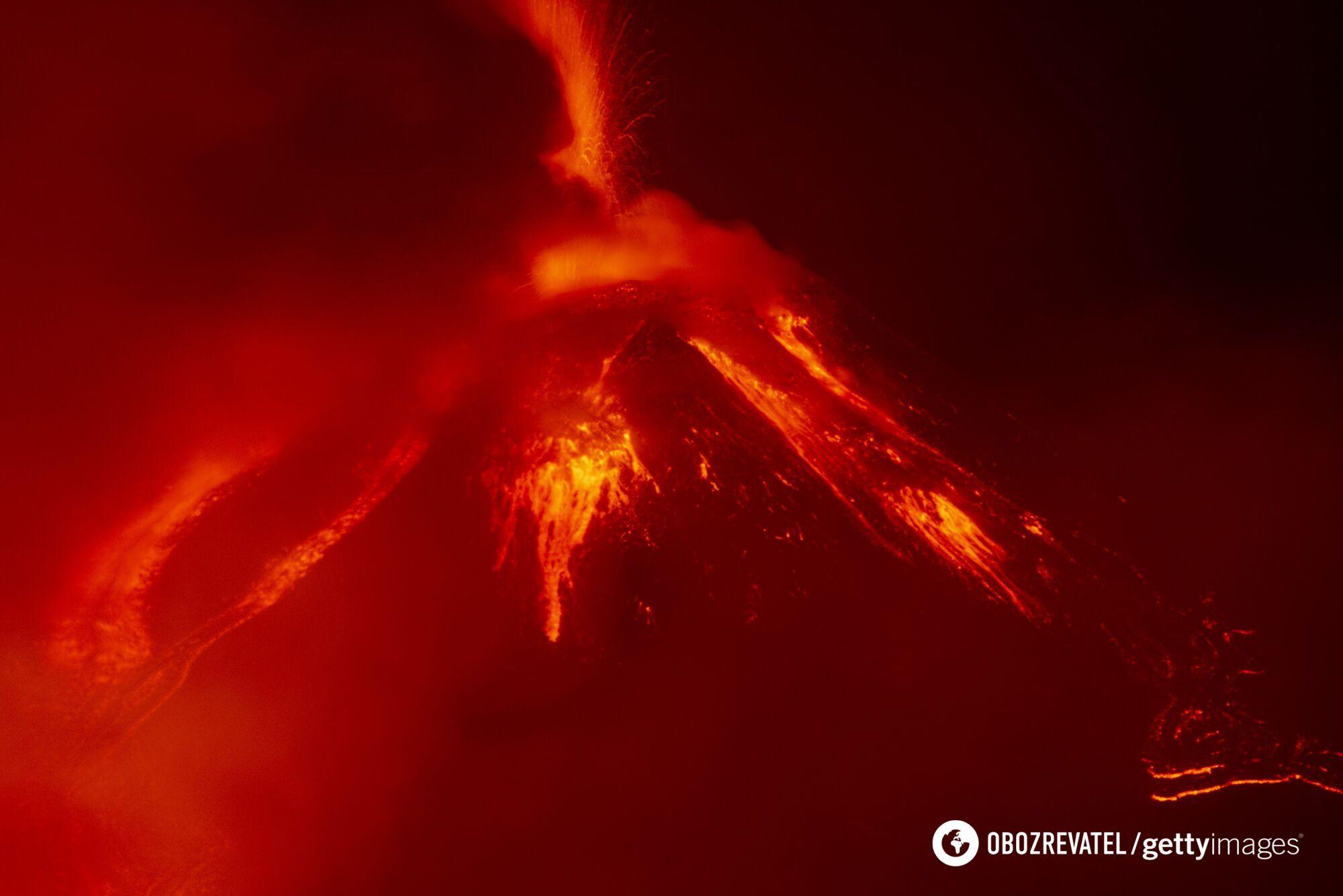 Виверження вулкана Етна