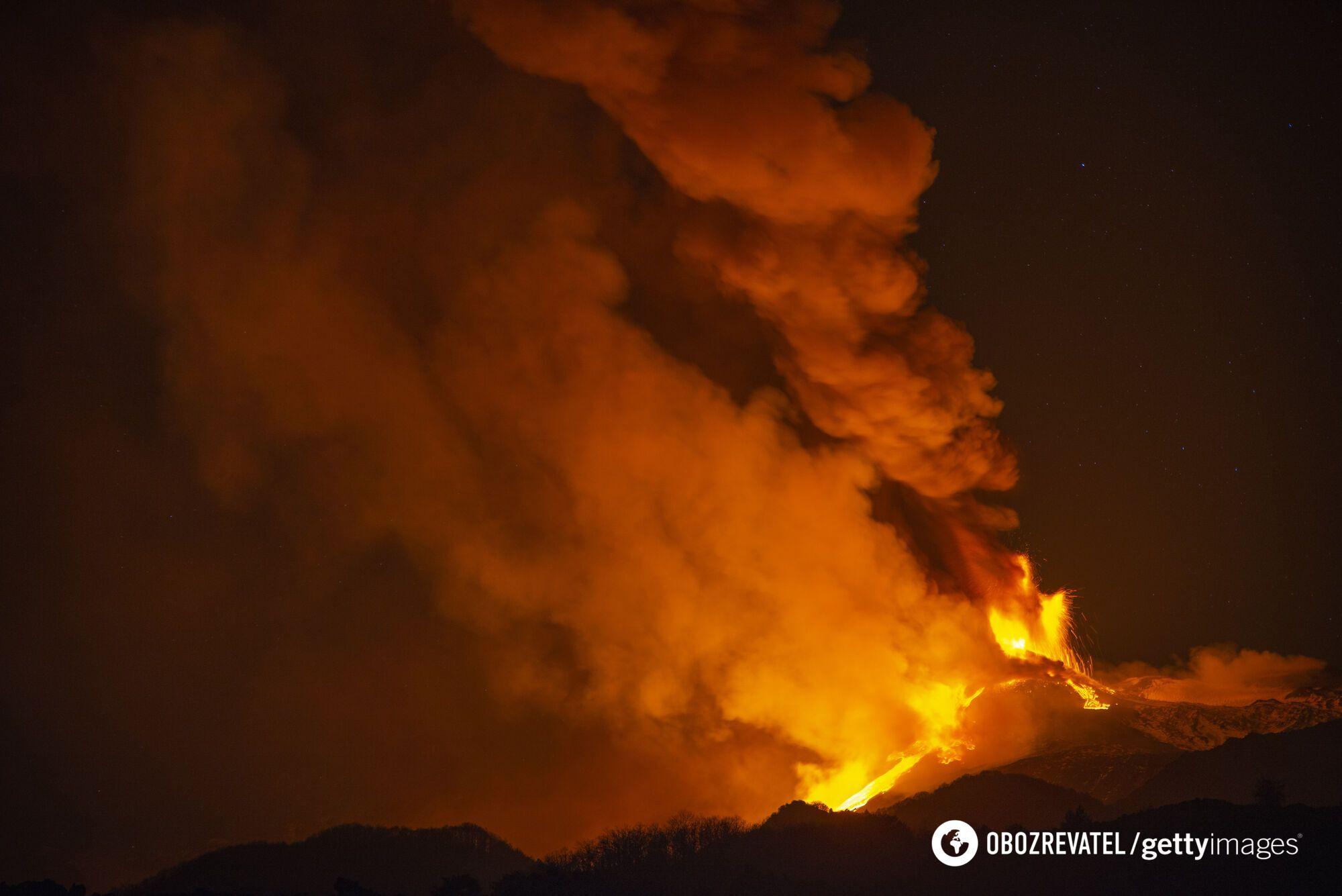 Виверження Етна 18 лютого