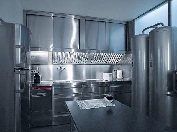 Кухня в квартире Карла Лагерфельда