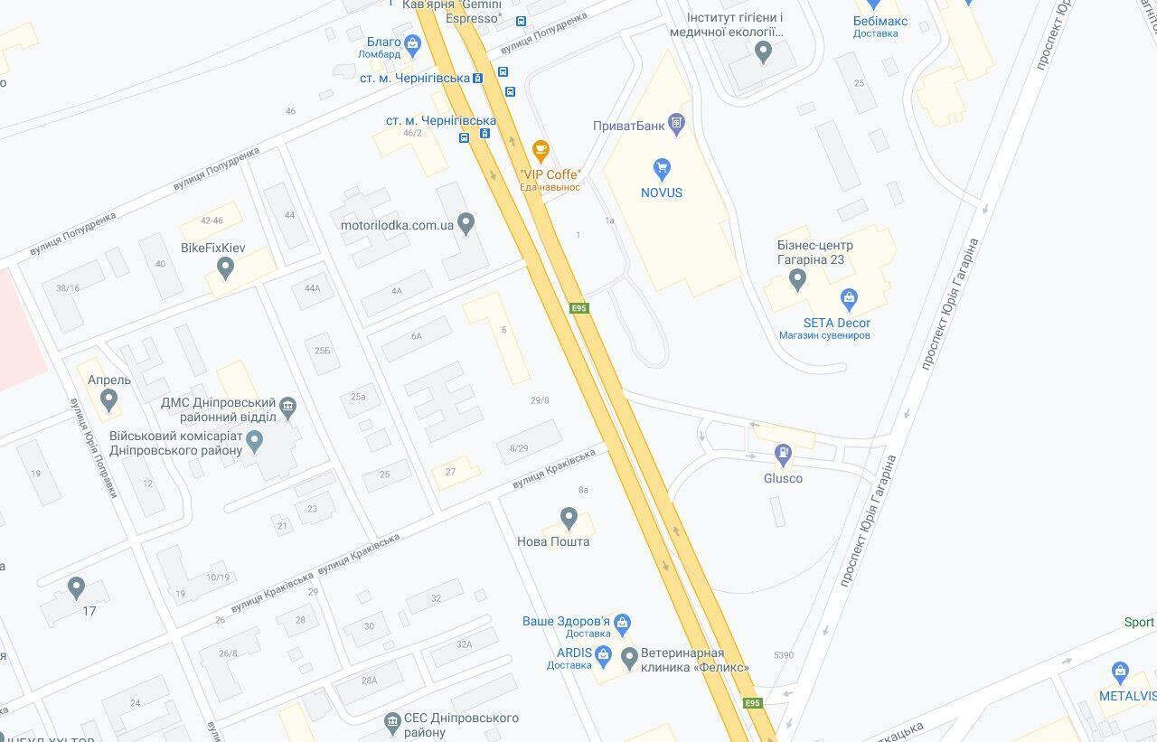 Авария произошла на улице Гната Хоткевича.