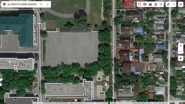 Дом Януковича в Ростове на картах